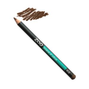 crayon brun du local en bocal