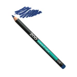 crayon bleu Zao du local en bocal