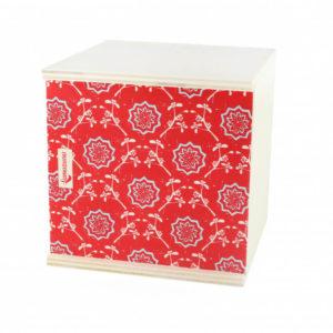 boite cadeau rouge du local en bocal