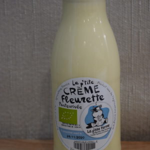 creme fleurette du local en bocal