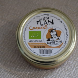 flan caramel du local en bocal