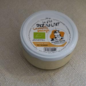 riz au lait orange cannelle du local en bocal