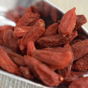 baie goji du local en bocal