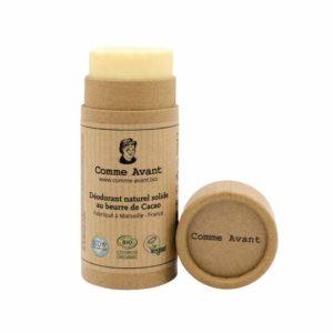 deodorant comme avant du local en bocal