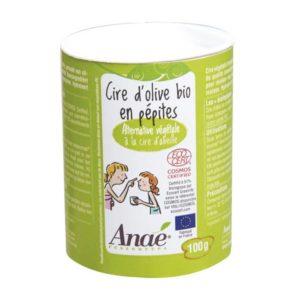 cire olive du local en bocal