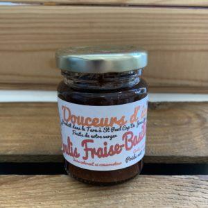 Confiture fraise basilic 110g du local en bocal