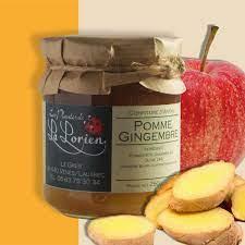 Confiture pomme gingembre du local en bocal
